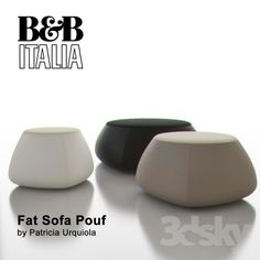 models: Other soft seating - B&B Italia Fat Sofa Pouf Bed Headboard Design, Headboards For Beds, Round Stool, Low Stool, Furniture Styles, Sofa Furniture, Furniture Design, Storage Footstool, Soft Seating