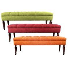 MJL Furniture Claudia Diamond Tuft Key Largo Upholstered Long Bench