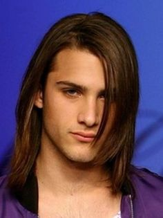 Sexy long style for men with fringe