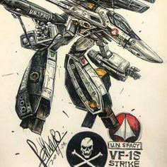 Robotech macross vf-1s guardian mode skull one
