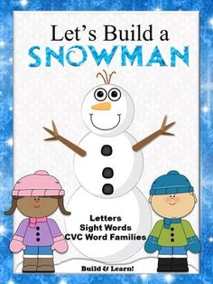 "Huge phonics game! Students build different snowmen while identifying letter names, sight words or CVC (word families) words. Each time a player identifies a card correctly, a part is added to her/his snowman. The first player to completely ""build"" a snowman is the winner of the game."