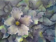 Watercolor Negative Painting, Art World, Around The Worlds, Plants, Paintings, Plant, Planets