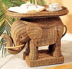 Wicker Elephant, $125