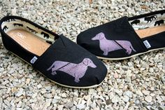 Dachshund Custom TOMS Shoes by themattbutler