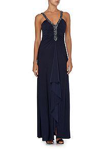 Deep V beaded dress