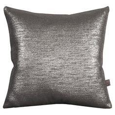 Bring a touch of glamour to your settee or bed with this chic pillow, showcasing a metallic hue.  Product: PillowConstruc...