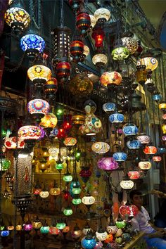 Shops of the Grand Bazaar in Turkey