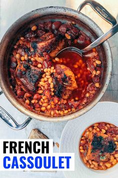 French Cassoulet Recipe with Pork Belly - Bacon is Magic Pork Belly Recipes, Beef Recipes, Real Food Recipes, Vegetarian Recipes, French Cassoulet Recipe, Dinner Dishes, Food Dishes, Main Dishes, Kitchens