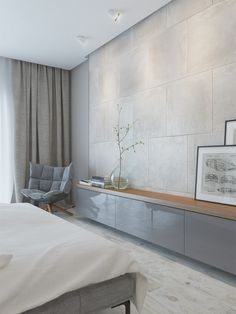 Grey interior, bedroom, grey color in interior, master bedroom