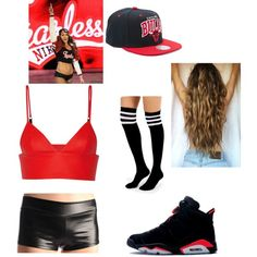 my nikki bella outfit by raynesolomon on Polyvore featuring polyvore fashion style T By Alexander Wang Ryder Mitchell & Ness Monday