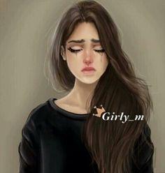 اجمل صور girly_m- screenshot thumbnail Crying Girl Drawing, Cry Drawing, Cute Girl Drawing, Woman Drawing, Drawing Girls, Girly M, Sad Drawings, Girly Drawings, Sarra Art