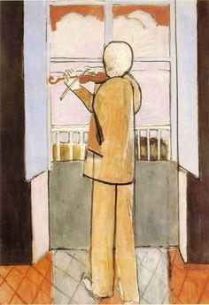 Henri Matisse - Le violoniste à la fenêtre (The violinist at the window), 1918.