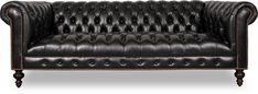 Higgins is a custom-made Chesterfield sofa made in the USA. Available as couch, sectional, armchair in leather or fabric.