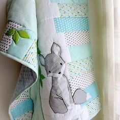 Another preferred color combination with a sweet little fox theme just perfect for a little baby boy. Woodland Nursery Bedding, Fox Nursery, Girl Nursery Bedding, Baby Bumper, Custom Baby Bedding, Handmade Baby Quilts, Girl Cribs, Aqua Blue, Blue Grey