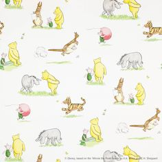 Winnie the Pooh and Friends Wallpaper - Multi (J127W-01) - Jane Churchill Nursery Tales Wallpapers Collection