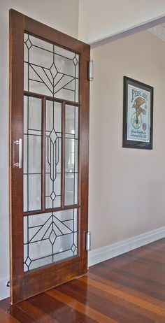 Leaded glass door in Holland Park West | Walk Among The Homes