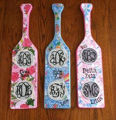 Lilly Pulitzer Paddle  monogrammed by ashleyBpaige on Etsy, $38.95
