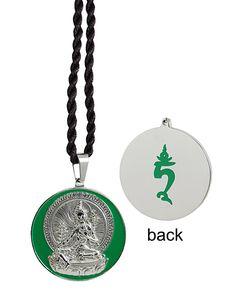 Green Tara Silver Plated Pendant #buddhism
