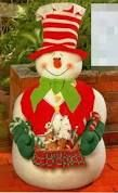 Resultado de imagem para bonecos natalinos em pe Christmas Love, Christmas Snowman, Beautiful Christmas, Winter Christmas, Christmas Crafts, Christmas Ornaments, Xmas, Frosty The Snowmen, Cute Snowman
