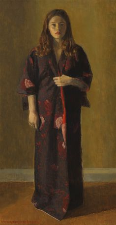 Nicolas Granger-Taylor (b.1963), Nina, 2013, oil on canvas over board, 16 x 8 inches http://www.ngrangertaylor.com/portraits.html