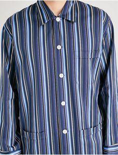 a13d4de6f2 DEREK ROSE - Wellington striped cotton pyjama set