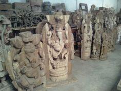 www.jodhpurtrends.com wooden indian antique gods statue