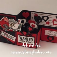 www.stampladee.com It's a z-fold box card on steroids!  make sure you subscribe to my YouTube Channel https://www.youtube.com/user/stampladee  because I have more of them coming!  All product is with Fun Stampers Journey www.funstampersjourney.com/debvalder to order!  I love the LOVE  BANDIT  Valentine's Day He's so much fun!