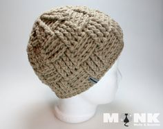 Crochet Monk - Basketweave Beanie (english)
