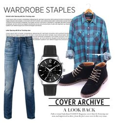 """wow menswear"" by heyitsjojox ❤ liked on Polyvore featuring Levi's, men's fashion, menswear, plaid and WardrobeStaples"