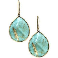 Ippolita 'Rock Candy - Large Teardrop' 18k Gold Earrings - Polyvore