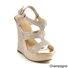 3a9f98c4aa8 Upgrade your footwear to these chic and stylish Beston DA90 Women s  Rhinestone Accent Wedges. If