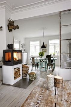 Scandinavisch industrieel interieur