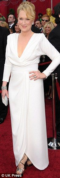 Meryl Streep in Chris March at the 2010 Oscars, March 2010