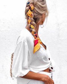 hairstyles homecoming hairstyles 2019 hairstyles headband hairstyles names braid hairstyles hairstyles game of thrones hairstyles down hairstyles kim kardashian Hair Scarf Styles, Curly Hair Styles, Hair With Scarf, Bandana Styles, Bandana Hairstyles, Braided Hairstyles, Hairstyles With Scarves, Hairstyle Ideas, Braided Locs