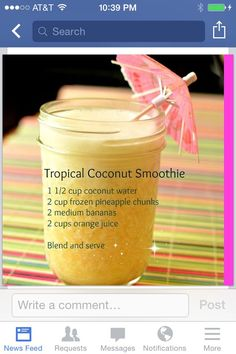 Coconut water smoothie Don't lose weight fast, Lose weight NOW!| Amazing diet tips to lose weight fast| dieting has never been easier| lose weight healthy and fast, check it out!| amazing diet tips, lost 20lbs in under a month| awesome! This really works