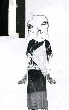 Fashion Sketchbook - fashion illustration & fabrics for graduate collection; fashion portfolio // Louise Alsop