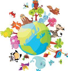 Medio Ambiente Cuidemos la Tierra | Salvemos el Planeta | Salvemos nuestras aves, animales, plantas de la extinción Imágenes Animadas Mini gifs