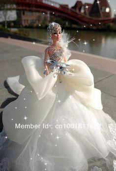 Barbie 2014 New Trail Barbie Bridal, Barbie Wedding Dress, Wedding Doll, Barbie Gowns, Barbie Dress, Bridal Wedding Dresses, Barbie Clothes, Gift Wedding, Princess Wedding