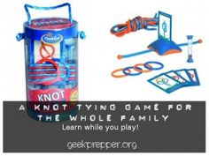 Knot Tying Game for the Family | #prepbloggers #skills #game