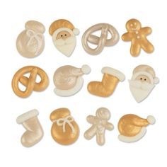 #3083 Sugar Santa set, gold and silver