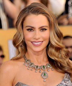 Sofia Vergara Hairstyle - Long Wavy Formal - Medium Brunette ...