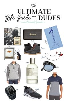 It's our first gift guide of the season and we're tackling the toughest group first - the men! We've found the most awesome, no-fail gift ideas for the boyfriend, husband, brother, dad or random dude in your life so you don't have to go through the pain o
