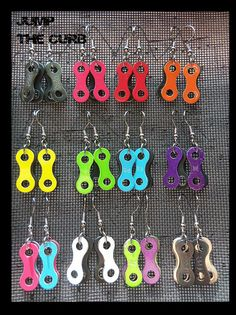Bike Chain Link Earrings by JumpTheCurb on Etsy