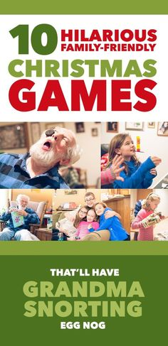 10 Hilarious Family-Friendly Christmas Games That'll Have Grandma Snorting Egg Nog *Loving this list of minute to win it games! games 10 Christmas Games That'll Have Grandma Snorting Egg Nog Fun Christmas Party Games, Xmas Games, Christmas Games For Family, Holiday Games, Holiday Fun, Christmas Holidays, Minute To Win It Games Christmas, Christmas Activities For Families, Christmas Ideas