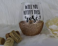 Oh My Glitter by OhMyGlitterDesigns Diy Glasses, Custom Wine Glasses, Glitter Wine, Personalized Cups, Silhouette Cameo Projects, Making Ideas, Fun Crafts, Gifts For Her, Funny Wine