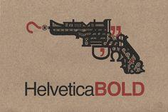 "Saatchi Online Artist Mark Fitz; Street Art, ""Helvetica Bold"" #art"