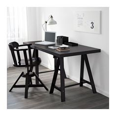 TORNLIDEN / ODDVALD Table - black-brown/black - IKEA