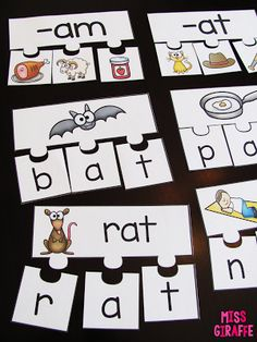 Short A Activities and Resources (including freebies!) blog post - CVC puzzles for students to practice reading short vowels words with engaging picture cues