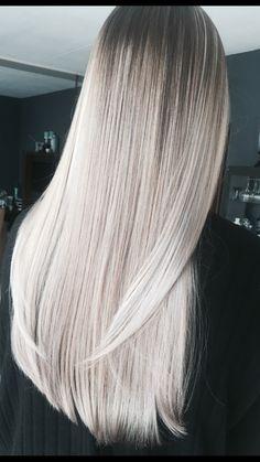 Icy blonde hair made by me#silverblonde