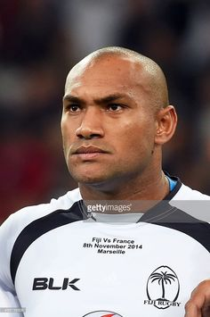 Fiji's winger Nemani Nadolo poses before the international rugby test match France vs Fiji at the...